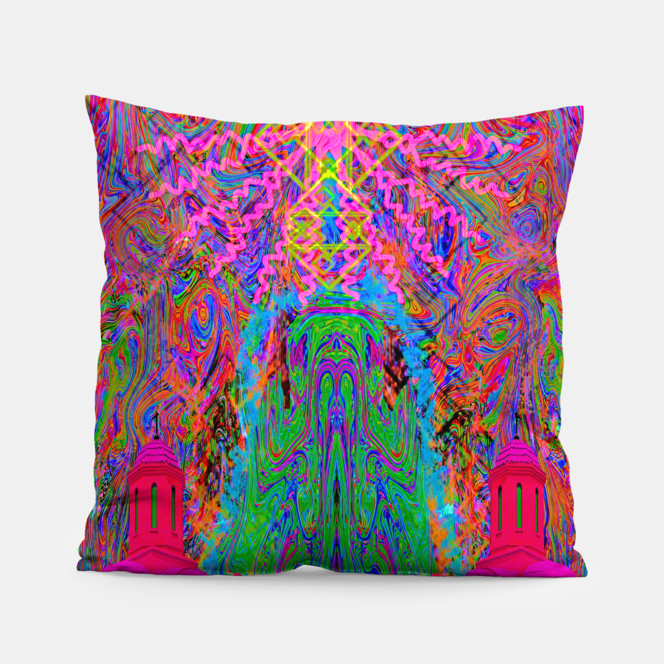Image of Baked By A Southwest Prayer (trippy, psychedelic, abstract) Pillow - Live Heroes