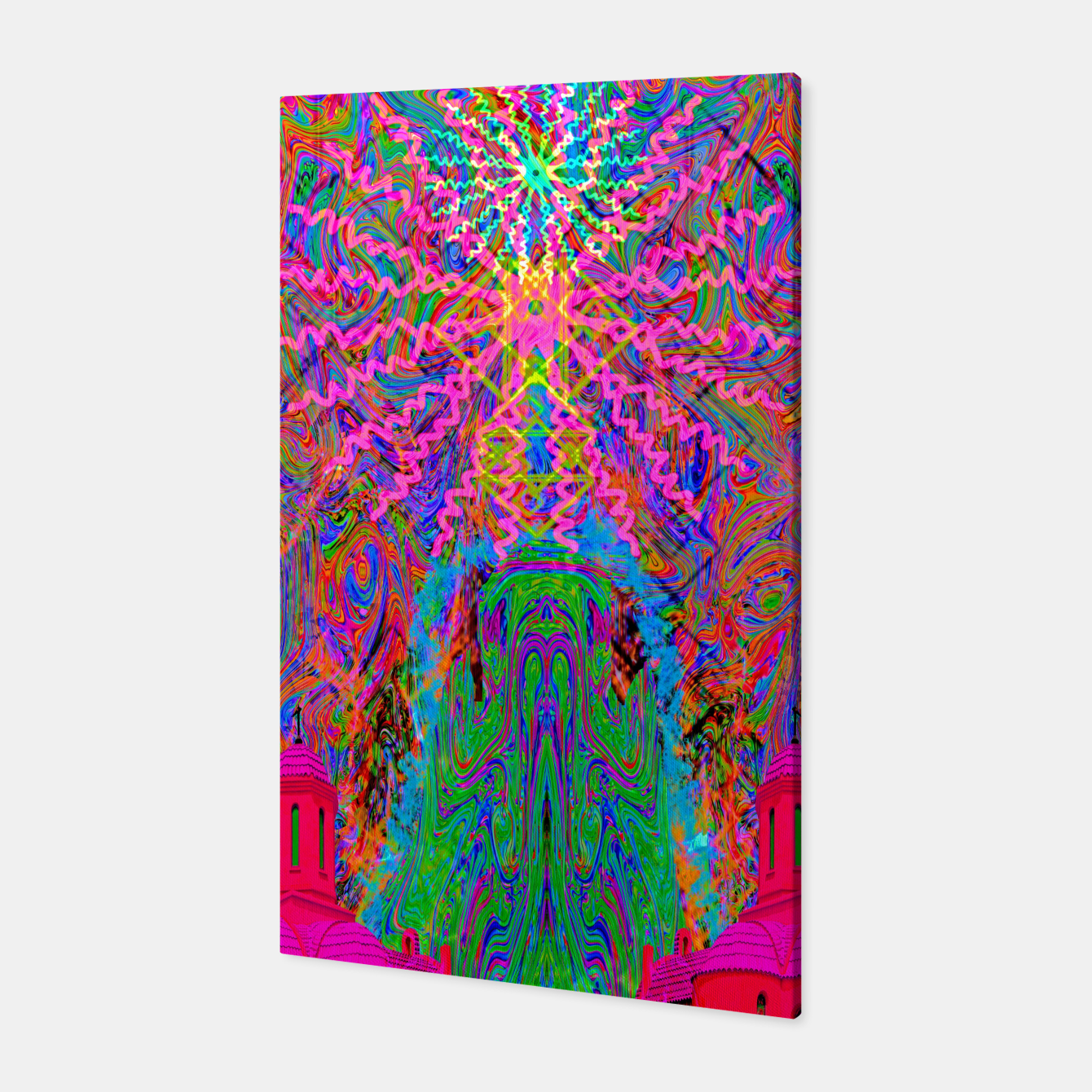Image of Baked By A Southwest Prayer (trippy, psychedelic, abstract) Canvas - Live Heroes
