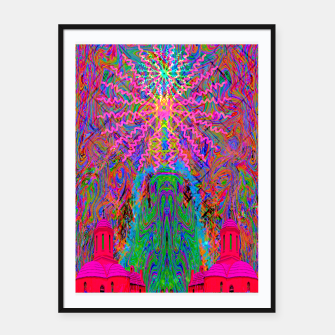 Baked By A Southwest Prayer (trippy, psychedelic, abstract) Framed poster thumbnail image