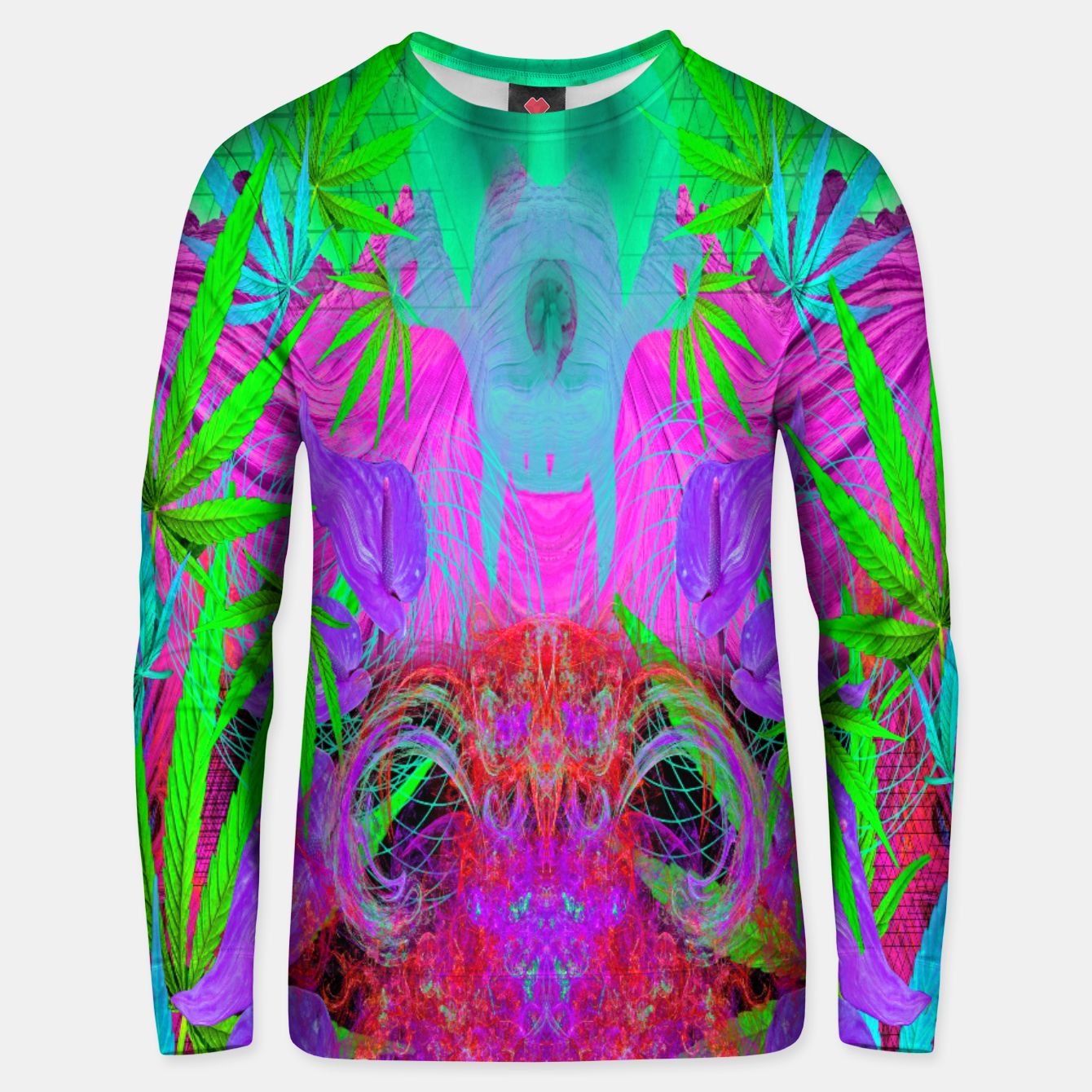 Image of Devil's  Death Weed (marijuana, psychedelic, blacklight) Unisex sweater - Live Heroes