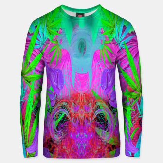Devil's  Death Weed (marijuana, psychedelic, blacklight) Unisex sweater thumbnail image