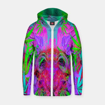 Devil's  Death Weed (marijuana, psychedelic, blacklight) Zip up hoodie thumbnail image