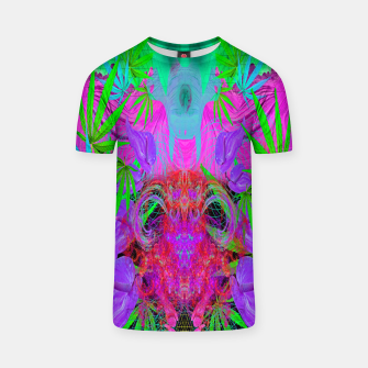 Devil's  Death Weed (marijuana, psychedelic, blacklight) T-shirt thumbnail image