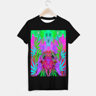 Devil's  Death Weed (marijuana, psychedelic, blacklight) T-shirt regular thumbnail image