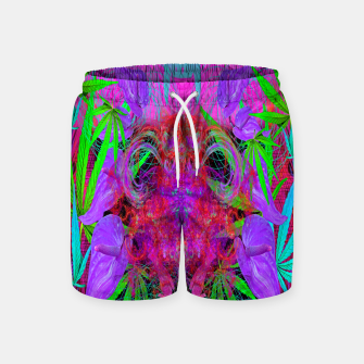 Devil's  Death Weed (marijuana, psychedelic, blacklight) Swim Shorts thumbnail image