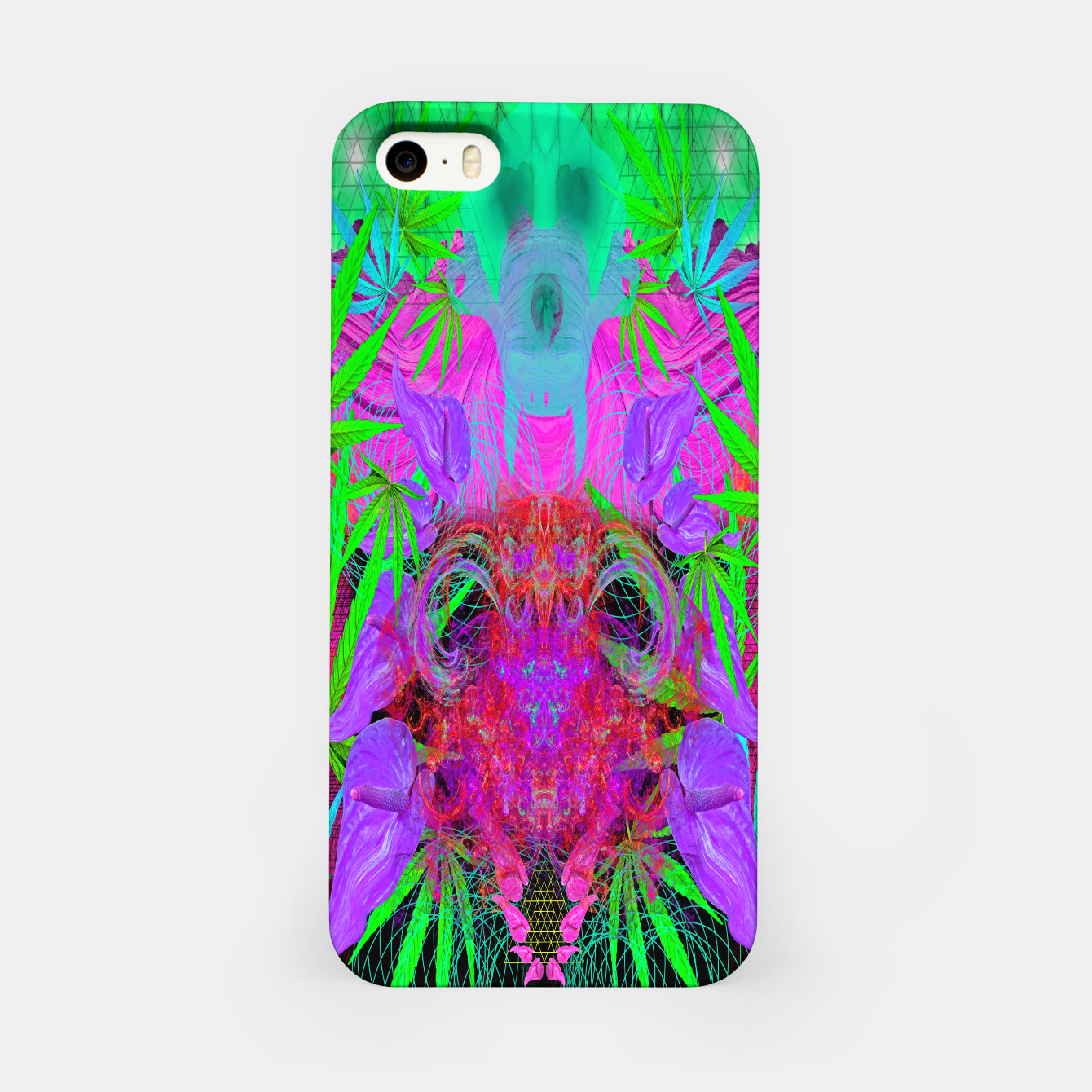 Image of Devil's  Death Weed (marijuana, psychedelic, blacklight) iPhone Case - Live Heroes