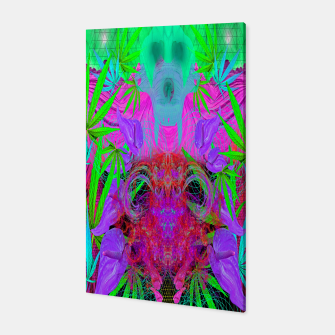 Devil's  Death Weed (marijuana, psychedelic, blacklight) Canvas thumbnail image