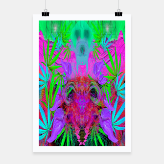 Thumbnail image of Devil's  Death Weed (marijuana, psychedelic, blacklight) Poster, Live Heroes