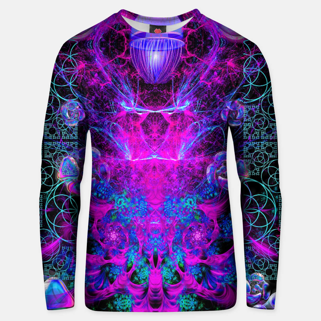 Image of Mental Magenta Explosion (trippy, psychedelic, visionary art) Unisex sweater - Live Heroes