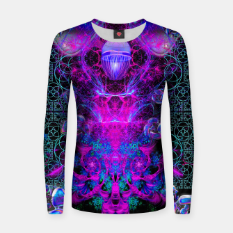 Thumbnail image of Mental Magenta Explosion (trippy, psychedelic, visionary art) Women sweater, Live Heroes