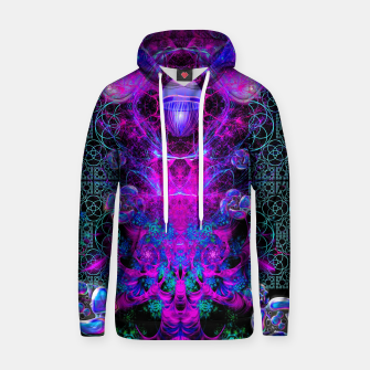 Thumbnail image of Mental Magenta Explosion (trippy, psychedelic, visionary art) Hoodie, Live Heroes