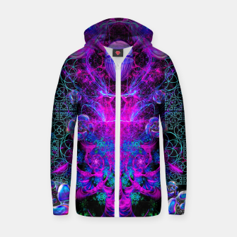 Thumbnail image of Mental Magenta Explosion (trippy, psychedelic, visionary art) Zip up hoodie, Live Heroes