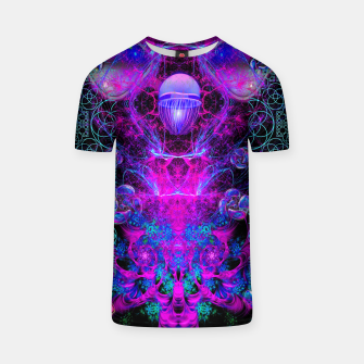 Thumbnail image of Mental Magenta Explosion (trippy, psychedelic, visionary art) T-shirt, Live Heroes