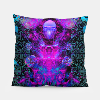 Thumbnail image of Mental Magenta Explosion (trippy, psychedelic, visionary art) Pillow, Live Heroes