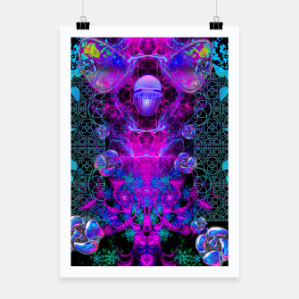 Thumbnail image of Mental Magenta Explosion (trippy, psychedelic, visionary art) Poster, Live Heroes