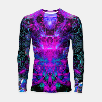 Thumbnail image of Mental Magenta Explosion (trippy, psychedelic, visionary art) Longsleeve rashguard , Live Heroes