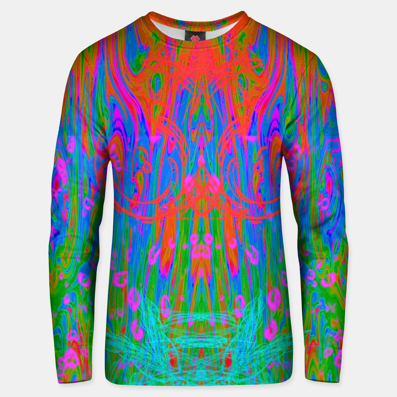 Image of Post Nasal Acid Drip (psychedelic, trippy, melty, fluorescent) Unisex sweater - Live Heroes