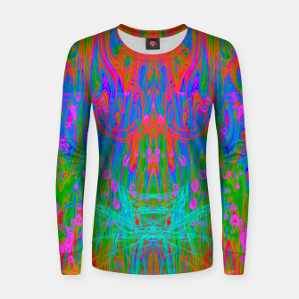 Post Nasal Acid Drip (psychedelic, trippy, melty, fluorescent) Women sweater thumbnail image