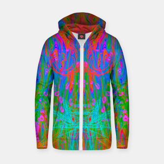 Post Nasal Acid Drip (psychedelic, trippy, melty, fluorescent) Zip up hoodie thumbnail image