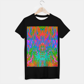 Post Nasal Acid Drip (psychedelic, trippy, melty, fluorescent) T-shirt regular thumbnail image