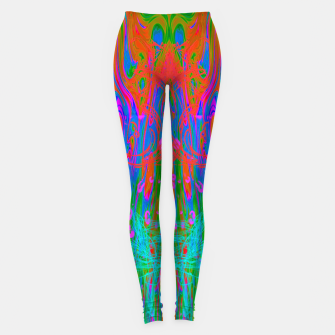 Post Nasal Acid Drip (psychedelic, trippy, melty, fluorescent) Leggings thumbnail image