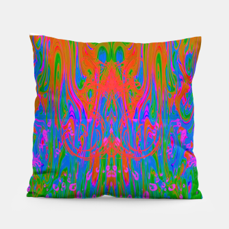 Post Nasal Acid Drip (psychedelic, trippy, melty, fluorescent) Pillow thumbnail image