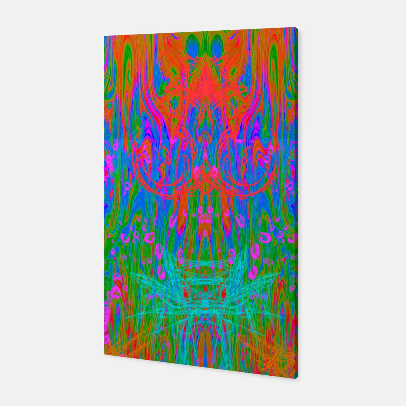Image of Post Nasal Acid Drip (psychedelic, trippy, melty, fluorescent) Canvas - Live Heroes