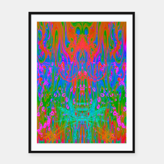 Thumbnail image of Post Nasal Acid Drip (psychedelic, trippy, melty, fluorescent) Framed poster, Live Heroes