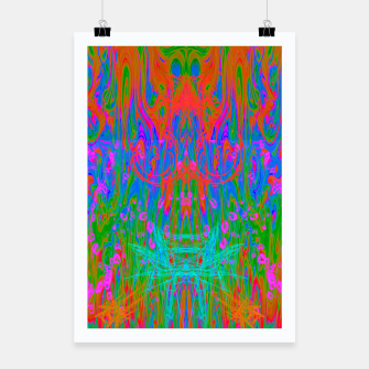 Thumbnail image of Post Nasal Acid Drip (psychedelic, trippy, melty, fluorescent) Poster, Live Heroes