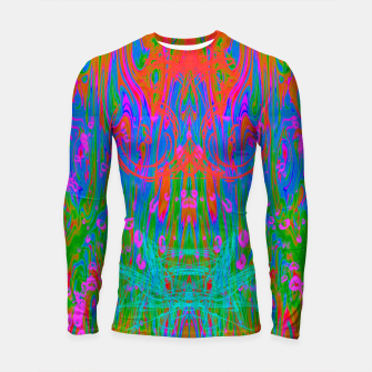 Thumbnail image of Post Nasal Acid Drip (psychedelic, trippy, melty, fluorescent) Longsleeve rashguard , Live Heroes