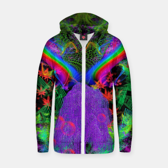 Thumbnail image of Willow Haze Vortex (psychedelic, trippy, visionary) Zip up hoodie, Live Heroes
