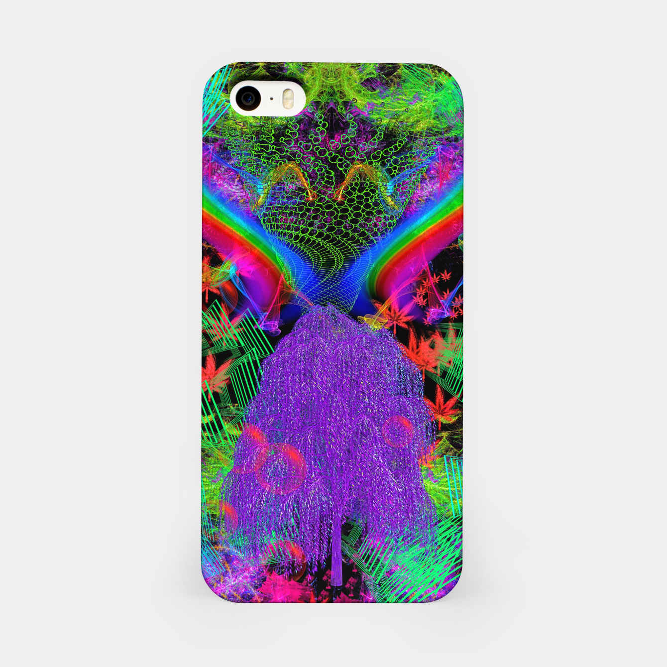 Image of Willow Haze Vortex (psychedelic, trippy, visionary) iPhone Case - Live Heroes