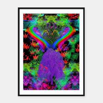 Thumbnail image of Willow Haze Vortex (psychedelic, trippy, visionary) Framed poster, Live Heroes