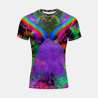 Thumbnail image of Willow Haze Vortex (psychedelic, trippy, visionary) Shortsleeve rashguard, Live Heroes