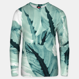 Thumbnail image of Tropical Jungle Leaves #1 #tropical #decor #art Unisex sweatshirt, Live Heroes