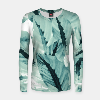 Thumbnail image of Tropical Jungle Leaves #1 #tropical #decor #art Frauen sweatshirt, Live Heroes