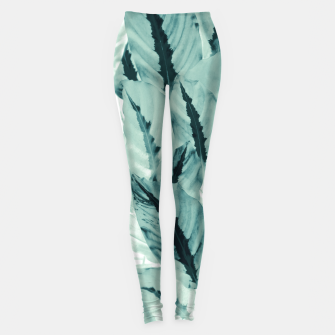 Thumbnail image of Tropical Jungle Leaves #1 #tropical #decor #art Leggings, Live Heroes
