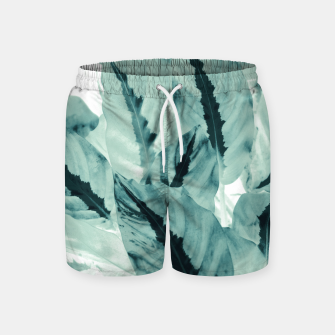 Thumbnail image of Tropical Jungle Leaves #1 #tropical #decor #art Badeshorts, Live Heroes