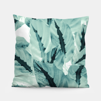 Thumbnail image of Tropical Jungle Leaves #1 #tropical #decor #art Kissen, Live Heroes