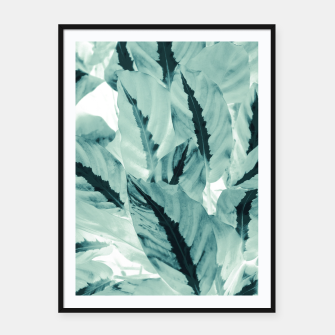 Thumbnail image of Tropical Jungle Leaves #1 #tropical #decor #art Plakat mit rahmen, Live Heroes