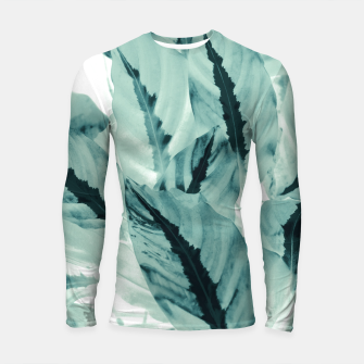 Thumbnail image of Tropical Jungle Leaves #1 #tropical #decor #art Longsleeve rashguard, Live Heroes