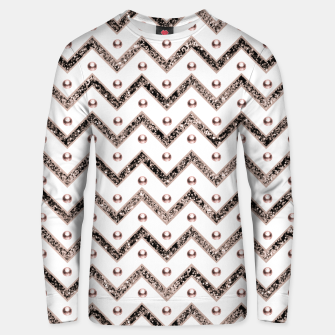 Thumbnail image of Chevron Glitter Gemstone Glam #1 #shiny #decor #art  Unisex sweatshirt, Live Heroes