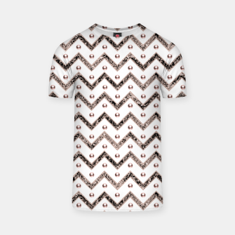 Thumbnail image of Chevron Glitter Gemstone Glam #1 #shiny #decor #art  T-Shirt, Live Heroes