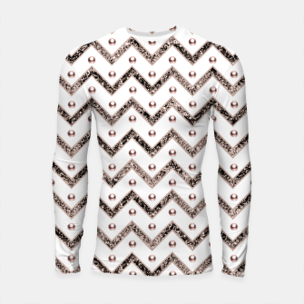 Thumbnail image of Chevron Glitter Gemstone Glam #1 #shiny #decor #art  Longsleeve rashguard, Live Heroes