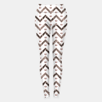 Thumbnail image of Chevron Glitter Gemstone Glam #1 #shiny #decor #art  Leggings, Live Heroes