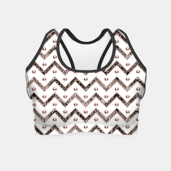 Thumbnail image of Chevron Glitter Gemstone Glam #1 #shiny #decor #art  Crop Top, Live Heroes