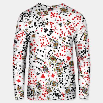 Thumbnail image of Playing cards Unisex sweater, Live Heroes
