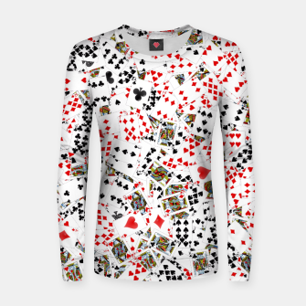 Thumbnail image of Playing cards Women sweater, Live Heroes