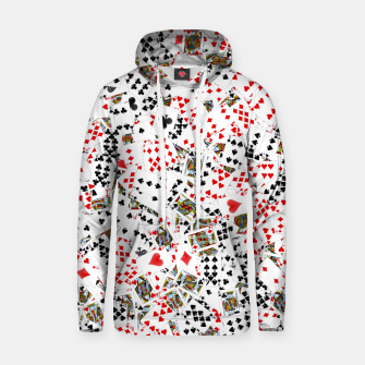 Thumbnail image of Playing cards Hoodie, Live Heroes