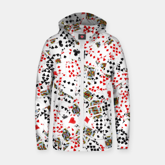 Thumbnail image of Playing cards Zip up hoodie, Live Heroes